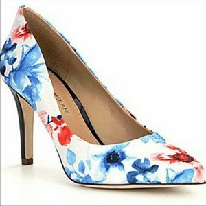 Antonio Melani Blue & Orange Floral Heels
